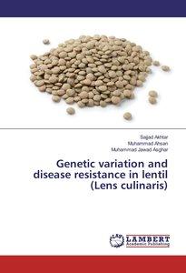 Genetic variation and disease resistance in lentil (Lens culinar