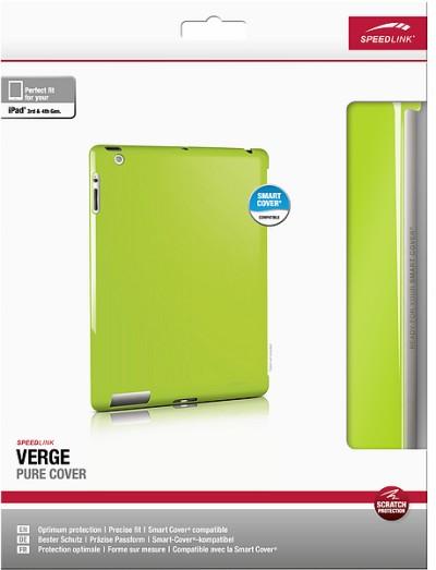 Speedlink VERGE Pure Cover, Hartschale für iPad 3-4, grün - zum Schließen ins Bild klicken