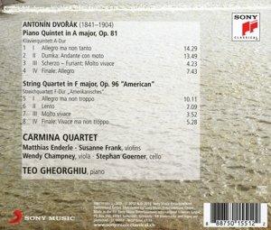 Piano Quintet op.81/Streichquartett op.96 American