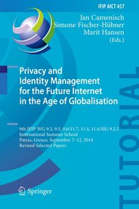 Privacy and Identity Management for the Future Internet in the A