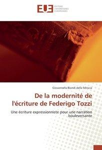 De la modernité de l'écriture de Federigo Tozzi