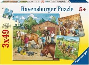 Ravensburger 09237 - Mein Reiterhof, 3 x 49 Teile Puzzle