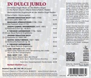 In dulci Jubilo-Weihnachtl.Orgelmusik