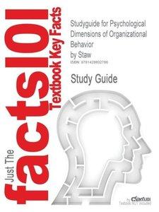 Studyguide for Psychological Dimensions of Organizational Behavi