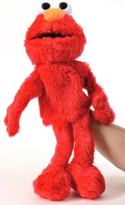 Handpuppe Sesamstraße Elmo, ca. 35cm - 0800933