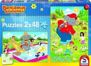 Schmidt Spiele 56077 - Benjamin Blümchen, Sommerzeit, Puzzle, 2