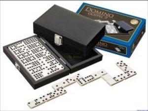 Philos 3621 - Domino Doppel 9, Kunstlederkassette