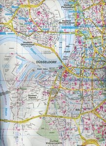 ADAC Stadtplan Düsseldorf 1 : 20 000
