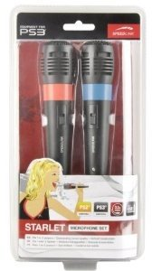 Speedlink SL-4470-SBK-02 STARLET Microphone Set für PS3, schwarz