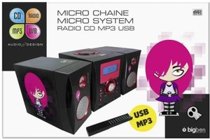 Kompaktanlage - MP3-USB Music Center MCD04 (Emo/schwarz)