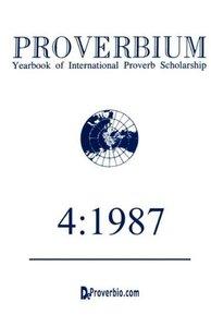 Proverbium: Yearbook of International Proverb Scholarship