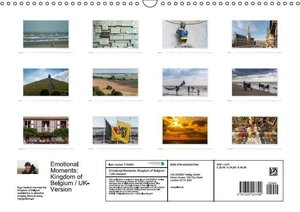 Emotional Moments: Kingdom of Belgium / UK-Version (Wall Calenda
