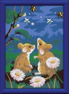 Ravensburger 278626 - Sternklare Mäusenacht, MNZ, Malen nach Zah