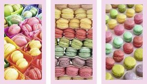 Howard Shooter: Macarons. Puzzle 3 x 500 Teile
