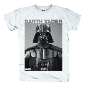Darth Vader Photo,T-Shirt,Größe L,Weiß