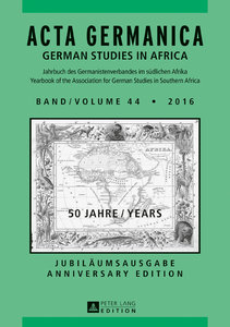 Acta Germanica Band / Volume 44 . 2016