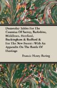 Domesday Tables For The Counties Of Surrey, Berkshire, Middlesex