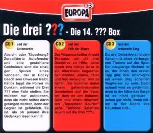 Die drei ??? Box 14. Folgen 40-42 (drei Fragezeichen). 3 CDs