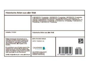 Historische Aktien aus aller Welt (Tischaufsteller DIN A5 quer)