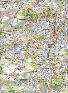 Chemnitz und Umgebung 1 : 35 000. Radwander- und Wanderkarte