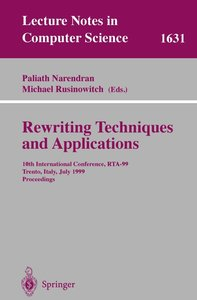 Rewriting Techniques and Applications