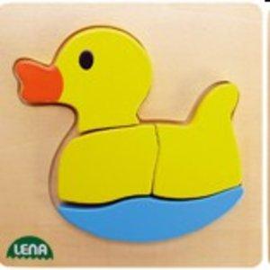 Lena 32066 - Holzpuzzle Ente