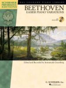 Ludwig van Beethoven: Easier Piano Variations (Schirmer Performa