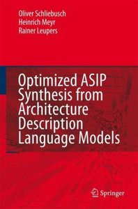 Optimized ASIP Synthesis from Architecture Description Language