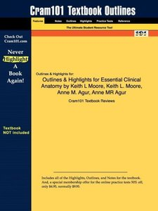 Outlines & Highlights for Essential Clinical Anatomy by Keith L