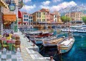 Café in Cassis. Puzzle 1000 Teile