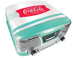 Kompaktanlage (Plattenspieler/Radio/CDPlayer/MP3-Player), Coca C - zum Schließen ins Bild klicken