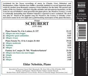 Klaviersonaten 4+13/Wanderer-Fantasie