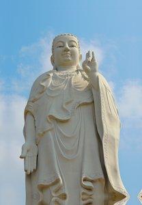 Premium Textil-Leinwand 30 cm x 45 cm hoch Buddhafigur, Vin Tran