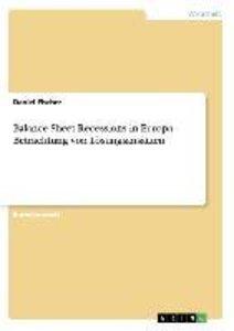 Balance Sheet Recessions in Europa - Betrachtung von Lösungsansä