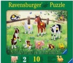 Heimische Tierkinder. Puzzle 10 Teile
