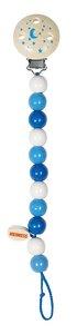 Goki 733900 - Schnullerkette blau, Holz