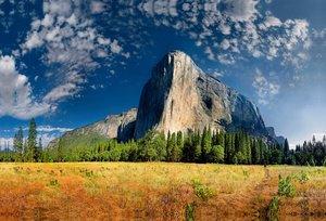 Premium Textil-Leinwand 90 cm x 60 cm quer El Capitan, Yosemite