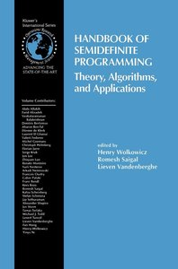 Handbook of Semidefinite Programming