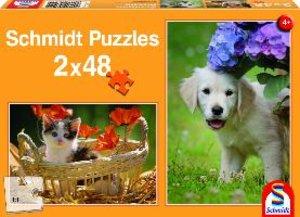 Hund & Katz, 2 x 48 Teile