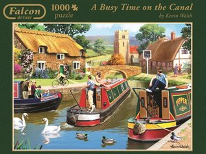 Jumbo Spiele 11107 - A Busy Time on The Canal, 1000 Teile