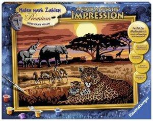 Ravensburger 28819 - Afrikanische Impressionen, MNZ, Malen nach