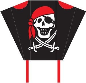 Invento 100092 - Pocket Sled Jolly Roger, Mini-Kinderdrachen
