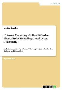 Network Marketing als Geschäftsidee. Theoretische Grundlagen und