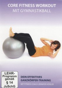 Core Fitness Workout mit Gymnastikball