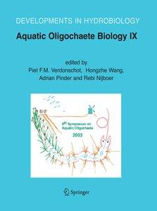Aquatic Oligochaete Biology IX
