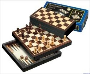 Philos 2507 - Reise-Schach-Backgammon-Dame-Set