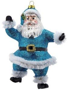 Tanzender Santa, blau