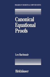 Canonical Equational Proofs