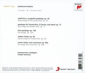 Brahms: Lieder und Romanzen