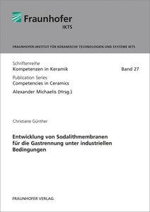 Entwicklung von Sodalithmembranen für die Gastrennung unter indu